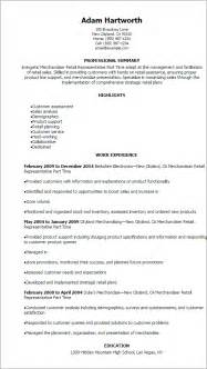 resume sle for merchandiser retail merchandising resume sales retail lewesmr