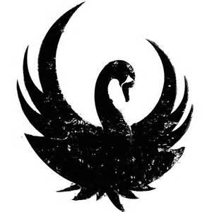 Bird Wall Art Stickers black swan silhouette woodworking burning pinterest