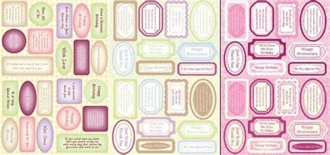 Kanban Paper Craft Toppers - kanban sentiments paper craft toppers scrapbook greeting
