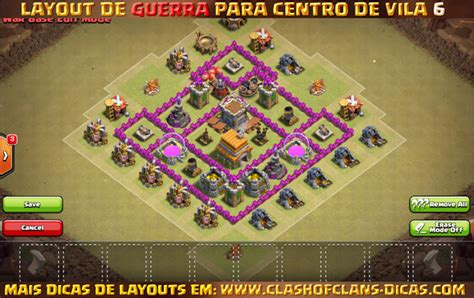 video de layout cv 6 layouts para centro de vila 6 em guerra clash of clans