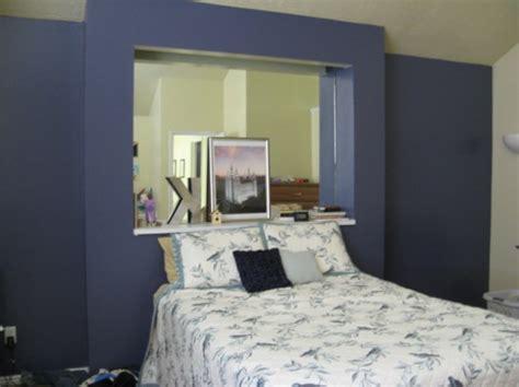 vorhänge blau beige dekor blau schlafzimmer