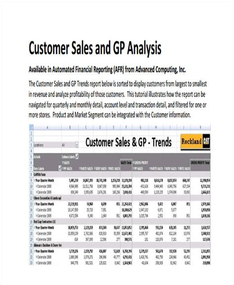 financial analysis sle report 32 exles of sales reports
