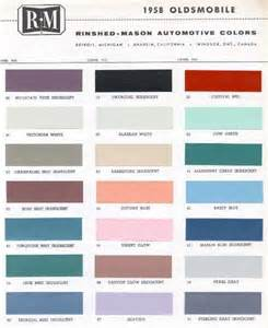 1958 oldsmobile paint color sample chips card colors ebay