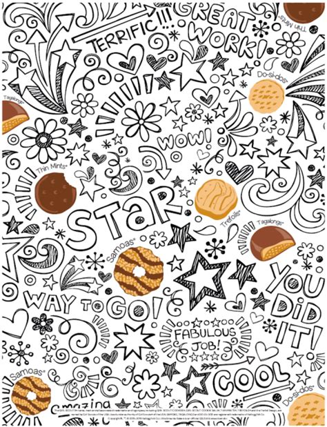 coloring page girl scout cookies little brownie bakers volunteer blog quick cookie