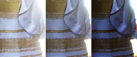 why do i see colors when i my white and gold or black and blue why see the dress