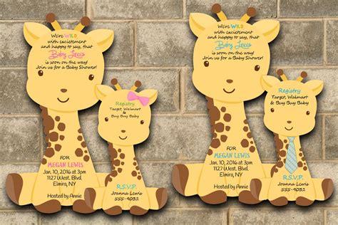 Giraffe Baby Shower Theme by Giraffe Baby Shower Invitation Giraffe Baby Shower