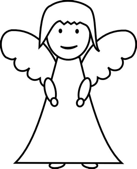 angel outline coloring page angel outline clip art at clker com vector clip art