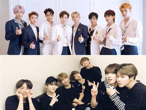 exo and bts exo vs bts boy band showdown in september