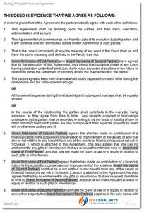 Binding Financial Agreement Template by Financial Agreement Made Before Marriage Prenuptial