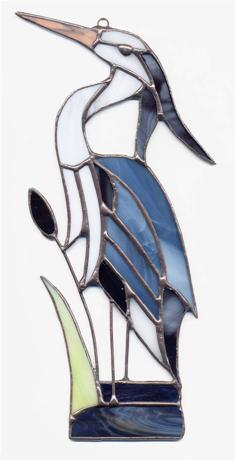 stained glass pattern blue heron stained glass blue heron beach pinterest