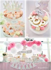 Hanging Flower Bags - kara s party ideas shabby chic bunny party planning ideas