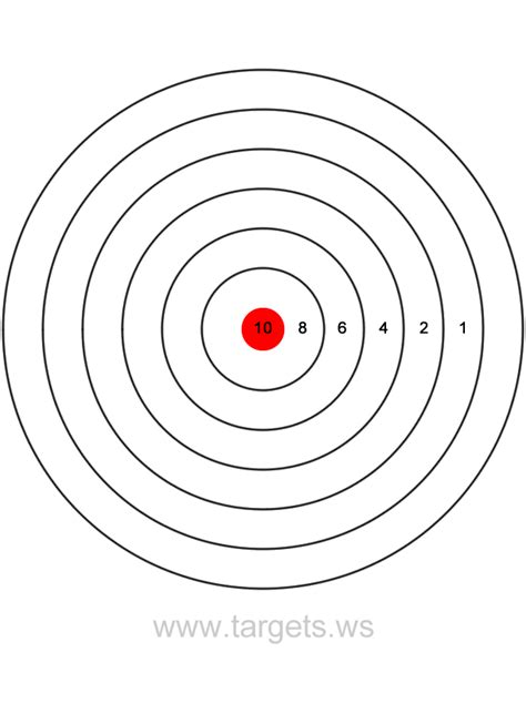 Targets Print Your Own Bullseye Shooting Targets Shooting Target Template