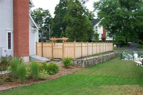 Custom Cedar Privacy Fence With Pergola And Gate Ketcham Pergola Privacy Fence