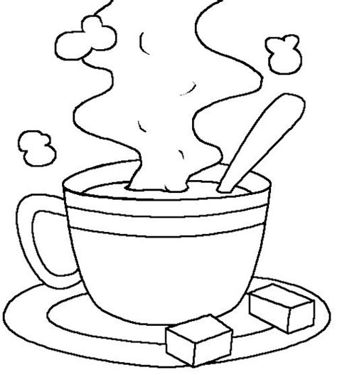cup of hot chocolate milk coloring page chocolate