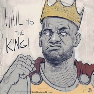 lebron james hail to the king sketch sports graphics