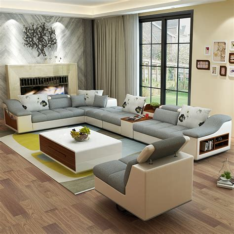 u shaped couch living room furniture living room furniture modern u shaped leather fabric