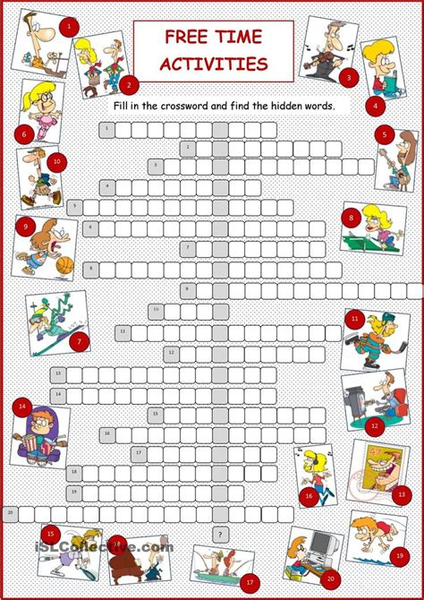 Free Time Worksheets by 9 Best Images About Hobbies And Free Time Activities On