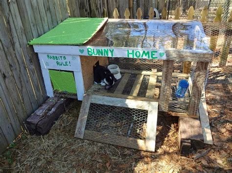Pallet Rabbit Hutch 5 6 months thriftiness diy recycled pallet creations
