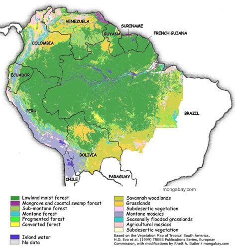 south america deforestation map map of the
