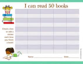 free printable reading incentive charts free reading incentive chart read 50 books cute girls
