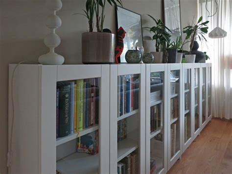 billy bookcase with glass doors ideas for build white bookcase with doors the wooden houses