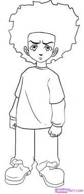 step 6 how to draw huey freeman from the boondocks