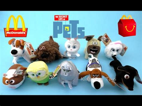 Happy Meal Mcdonald The Secret Of Pets 2016 mcdonald s the secret of pets happy meal toys complete set 10 collection