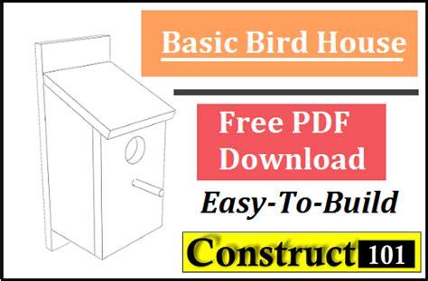 basic home design software free download basic bird house plans pdf download construct101