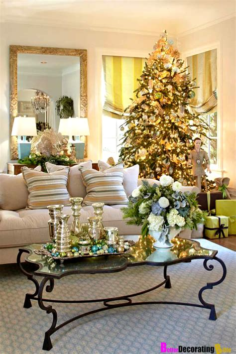Traditional Home Christmas Decorating | home decorating for christmas 2017 grasscloth wallpaper