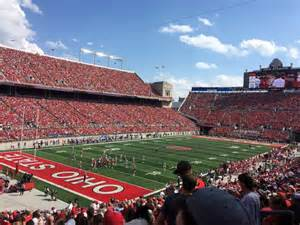 section 9a ohio stadium section 9a row 25 seat 17 ohio state