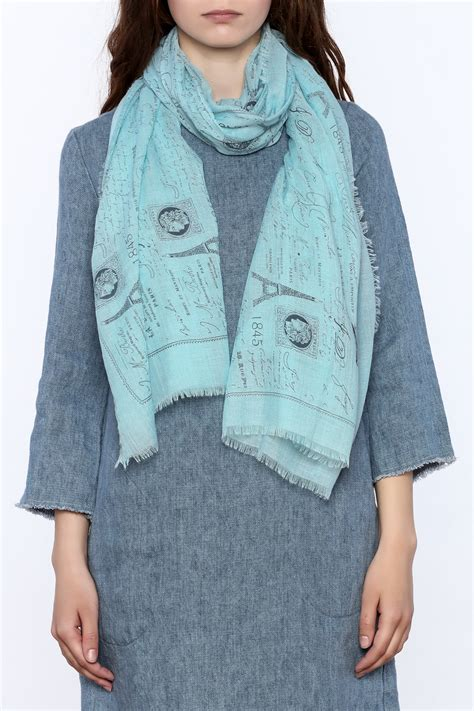 2 chic eiffel tower print scarf from alexandria by tu anh