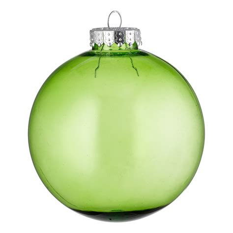 clear baubles green dzd