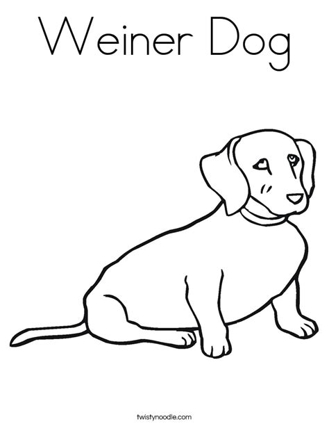 free coloring pages of dog sausage