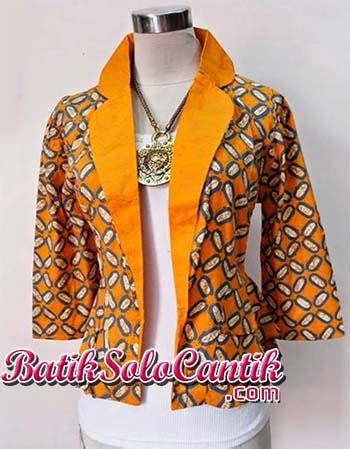 Bolero Bolak Balik Batik Blezer Batik Modern Atasan Batik Wanita Rompi 1 batik blazer baju kerja batik page 8