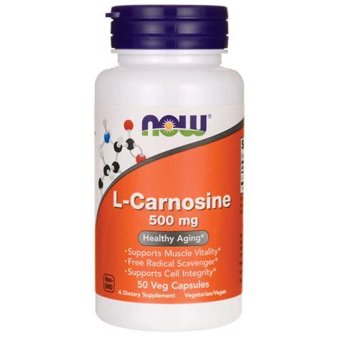now foods l carnosine 500 mg 50 veg caps swanson health