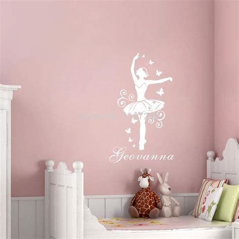 personalized wall decor for home personalized ballerina custom name vinyl wall sticker