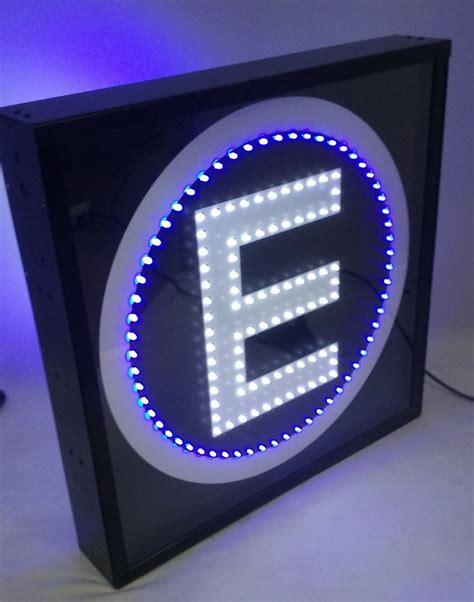 placa de led estacionamento placa luminosa dupla face