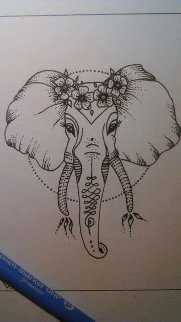 elephant tattoo with jewels elephant draw draw pinterest tattoo drawings and