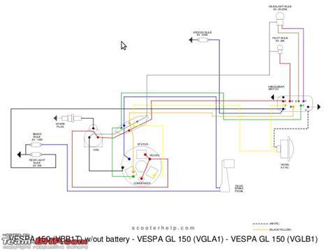 100 wiring diagram vespa 150 parts schematic