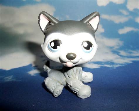 lps husky puppy littlest pet shop husky puppy 210 lps htf blue retired hasbro ebay