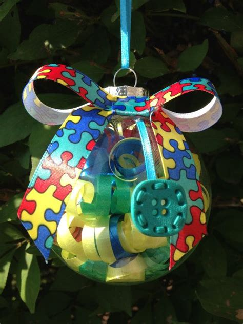 handmade autism awareness christmas ornament