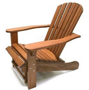 Adirondack Ottoman Eucalyptus Adirondack Chair W Built In Ottoman