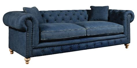 Denim Chairs Tufted Denim Blue Jeans Chesterfield Sofa Collection