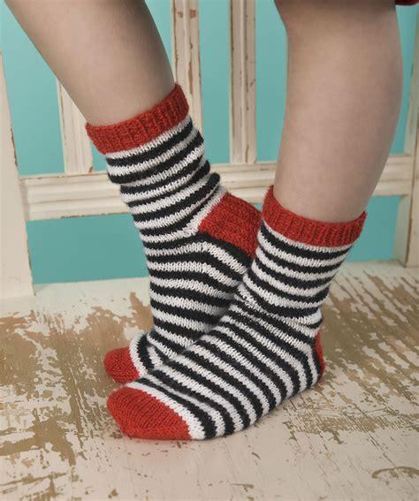 pattern child socks child s striped sock knitting pattern red heart