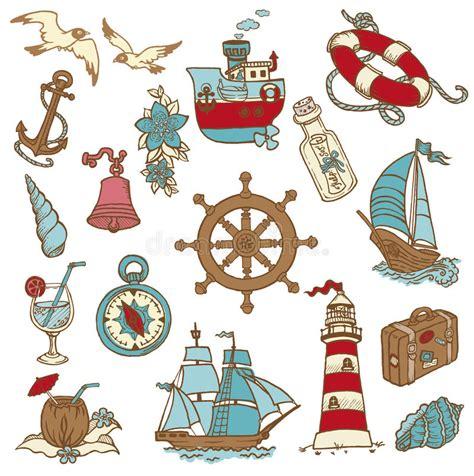 doodle doodle do elementos do mar do doodle ilustra 231 227 o do vetor ilustra 231 227 o