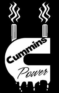 cummins power with stacks decal sticker dodge diesel