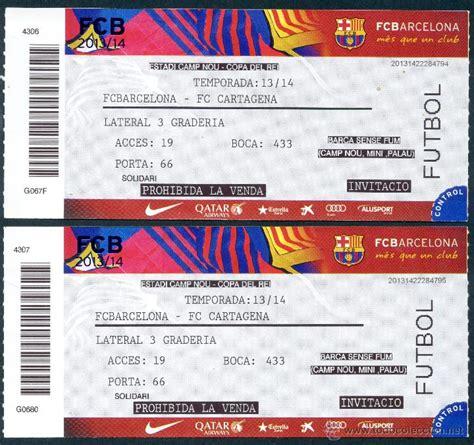 comprar entradas de futbol 2 entradas futbol club barcelona copa rei comprar