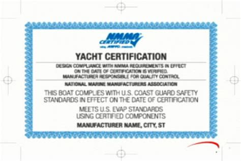 boat certification 10 years of nmma certification