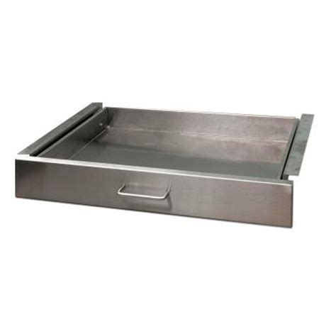danver 27 in stainless steel kitchen cart drawer c27dr