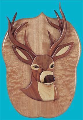 trophy buck intarsia patterns scrollsawcom